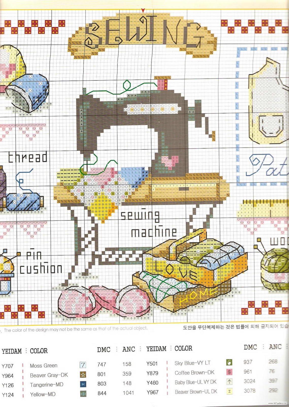 Вышивка на швейной машине схема