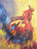 Oil Painting Rooster