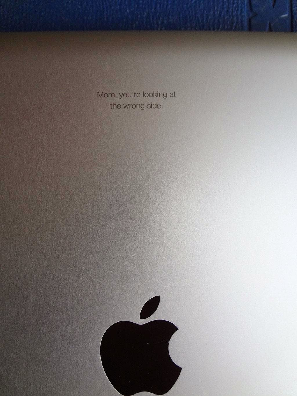 When Giving Your Mother an iPad, The Following Engraving is Recommended