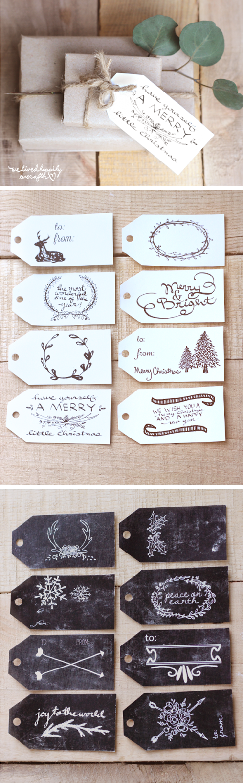 We Lived Happily Ever After: Free Christmas Gift Tag Printables