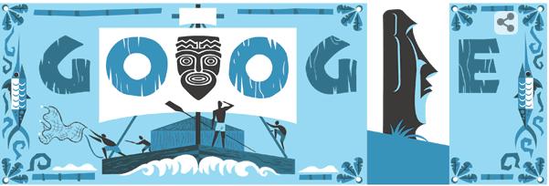 Thor Heyerdahl Google Doodle