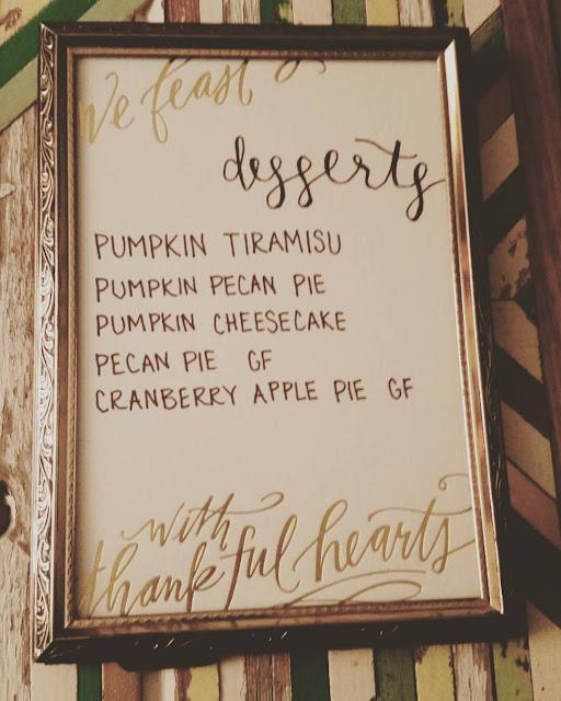 Lindsey Letters menu card