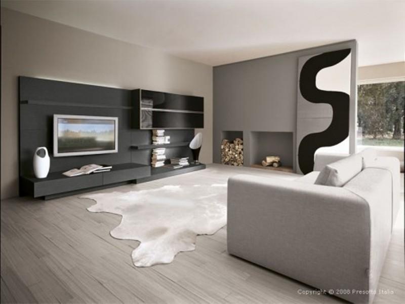 Moderno apartamento loft con diseños en contraste claroscuro ...