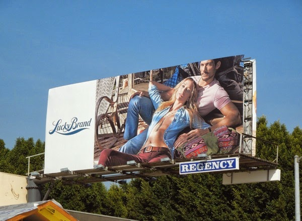 Lucky Brand Jeans Raquel Zimmerman David Gandy S14 billboard
