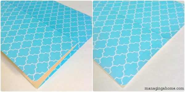 file folders folding and taping easy DIY