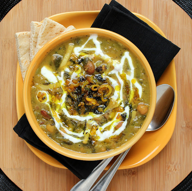 Turmeric & Saffron: Ash Reshteh - Persian Bean and Noodle Thick Soup