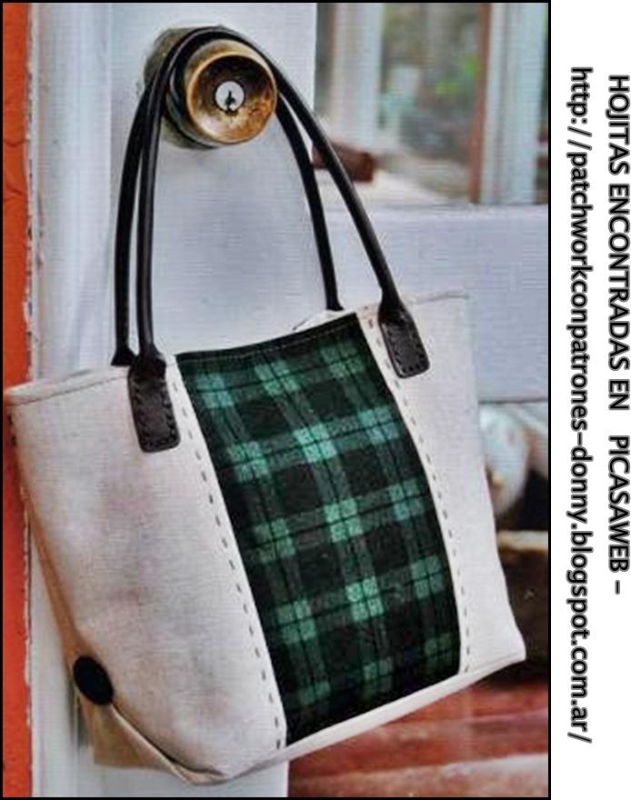 Patchwork solo patrones todo gratis patchwork bolsos - Telas para hacer bolsos ...