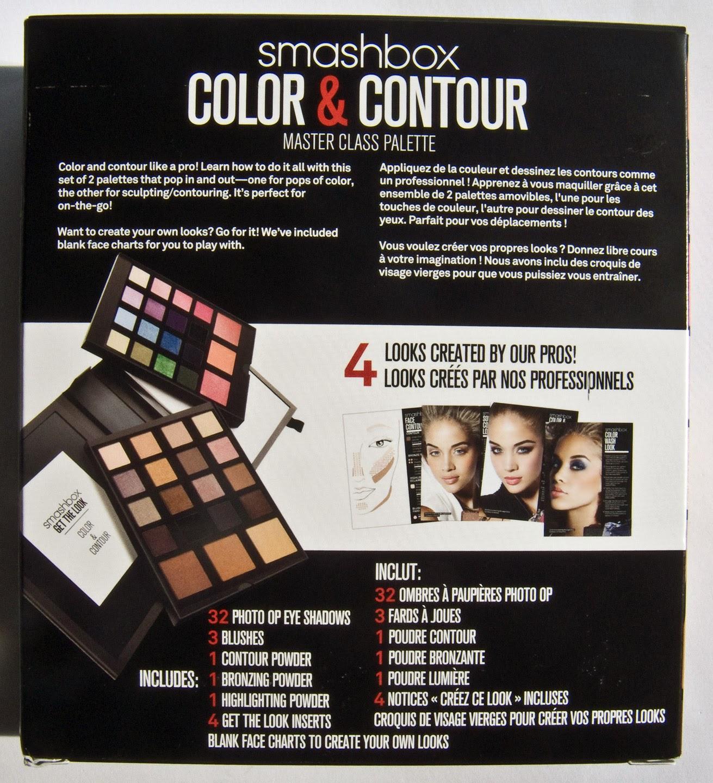 Smashbox Master Class Palette Iii €� Color & Contour Box Back
