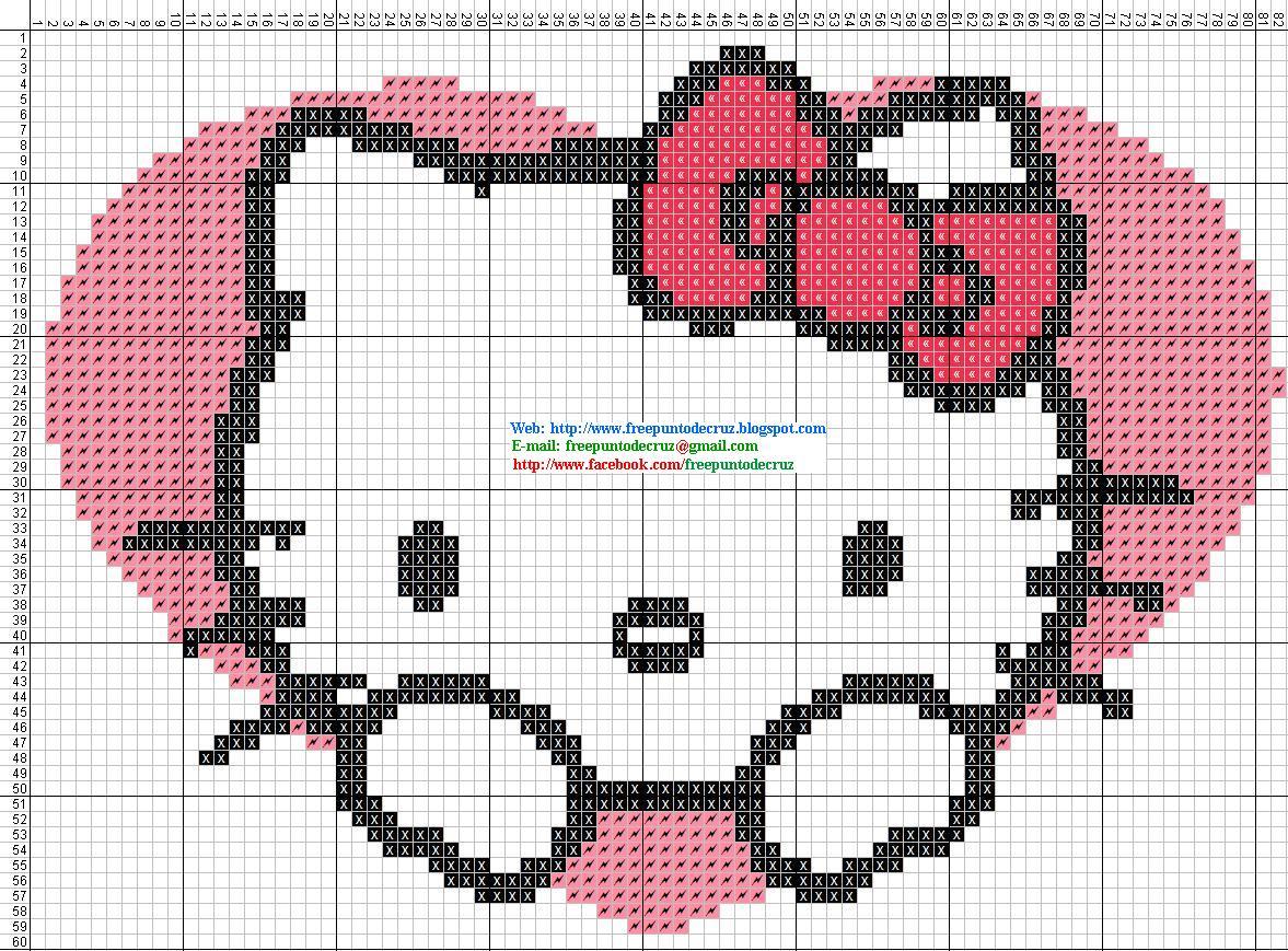 Dibujos Punto de Cruz Gratis Hello Kitty  Punto de cruz