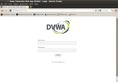 Screenshot-Damn Vulnerable Web App (DVWA)