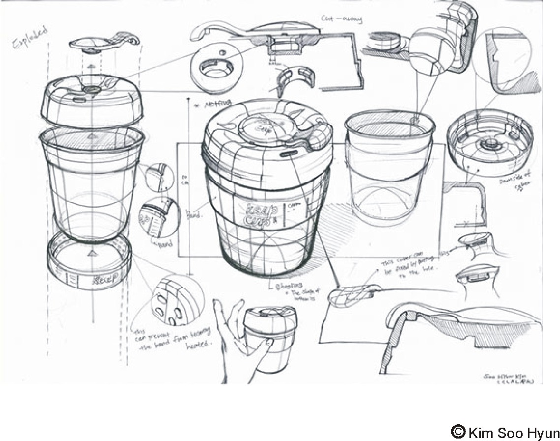 Product Design Line Art : Drawon keep cup sketch lesson