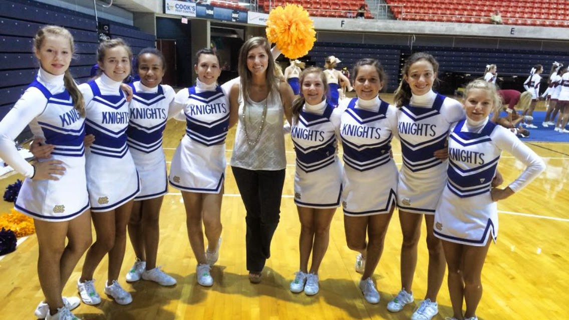 Catholic's JV and Middle School Cheerleaders Attend Camp at Auburn University 1
