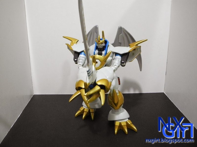 Imperialdramon Paladin Mode holding his sword Imperialdramon Paladin Mode Sword
