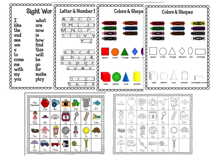 Time 4 Kindergarten: Kindergarten Homework Folders and Binders