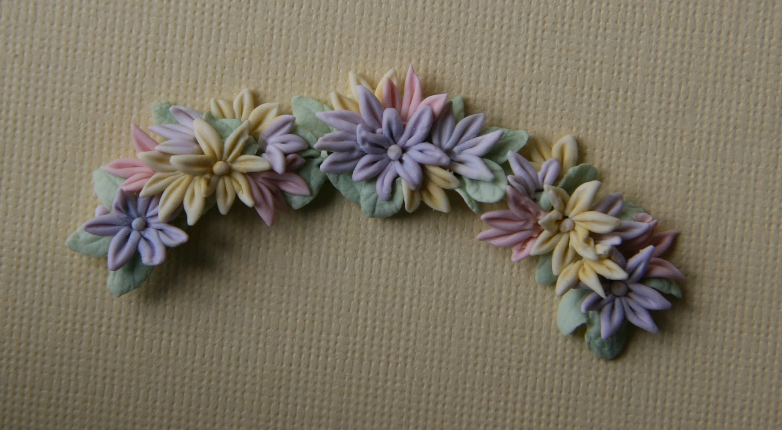 Chrystals Designs Miniature Polymer Clay And Paper Flowers
