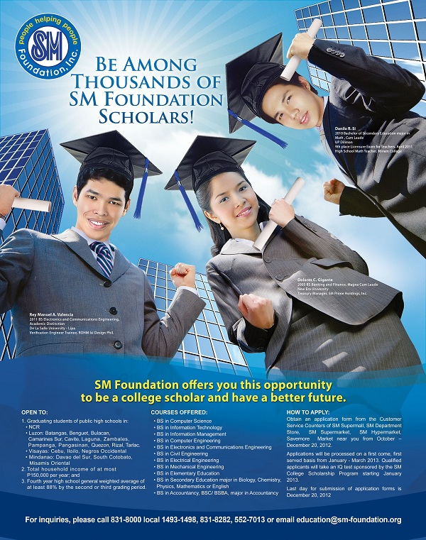 SMFI college scholarship program 2013-2014