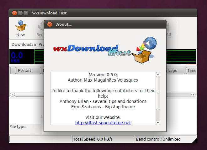 wxDownload Fast di Ubuntu 11.04 Natty Narwhal
