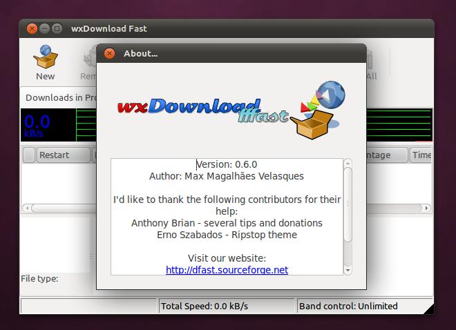 wxDownload Fast di Ubuntu 11.04 Natty Narwhal
