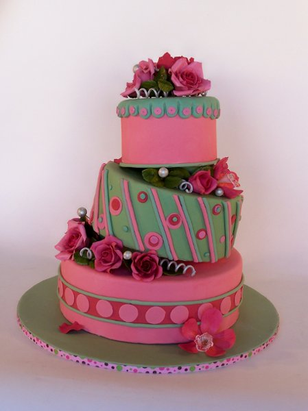 Wedding Cakes Pictures Pink And Green Wedding Cakes