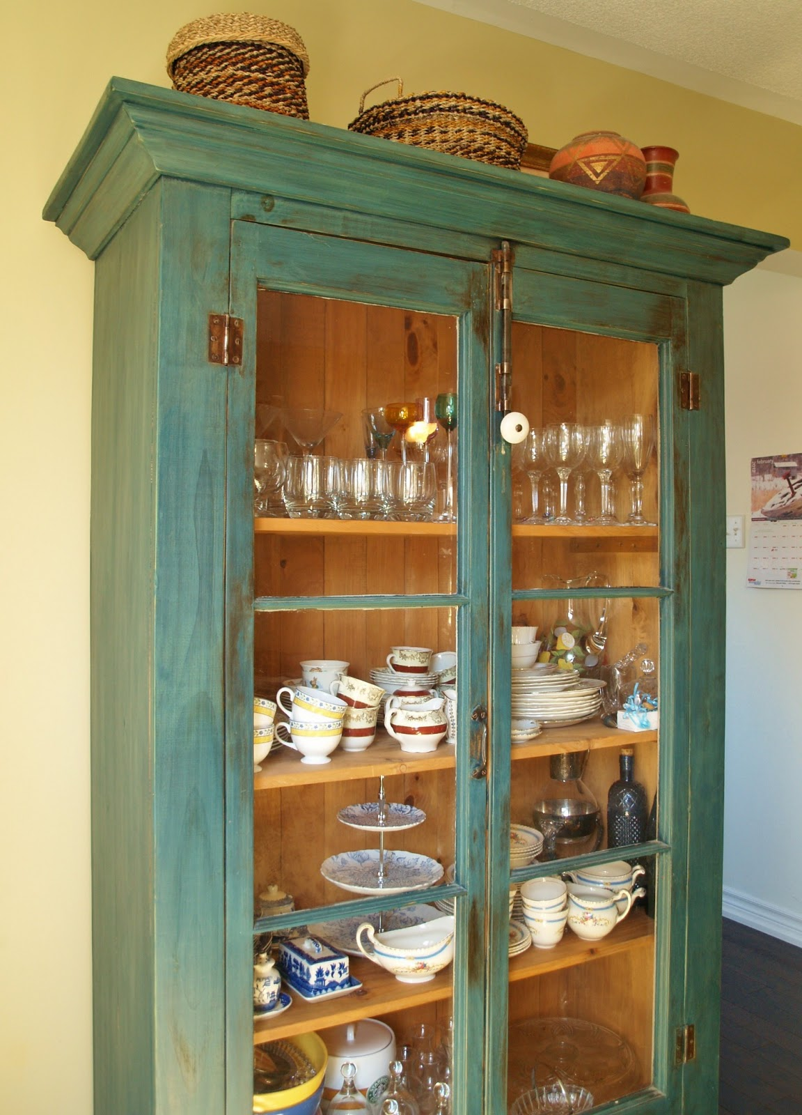 My Wedding China Grandmothers And Some Other Pieces I Have Collected Are Housed In The Dining Room Armoire