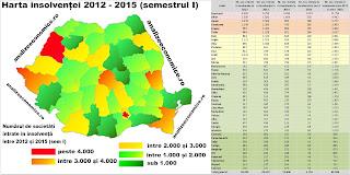 În ce județe s-au înregistrat cele mai multe insolvențe din 2012 până în prezent