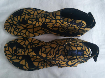 Mawube Couture African print sandals