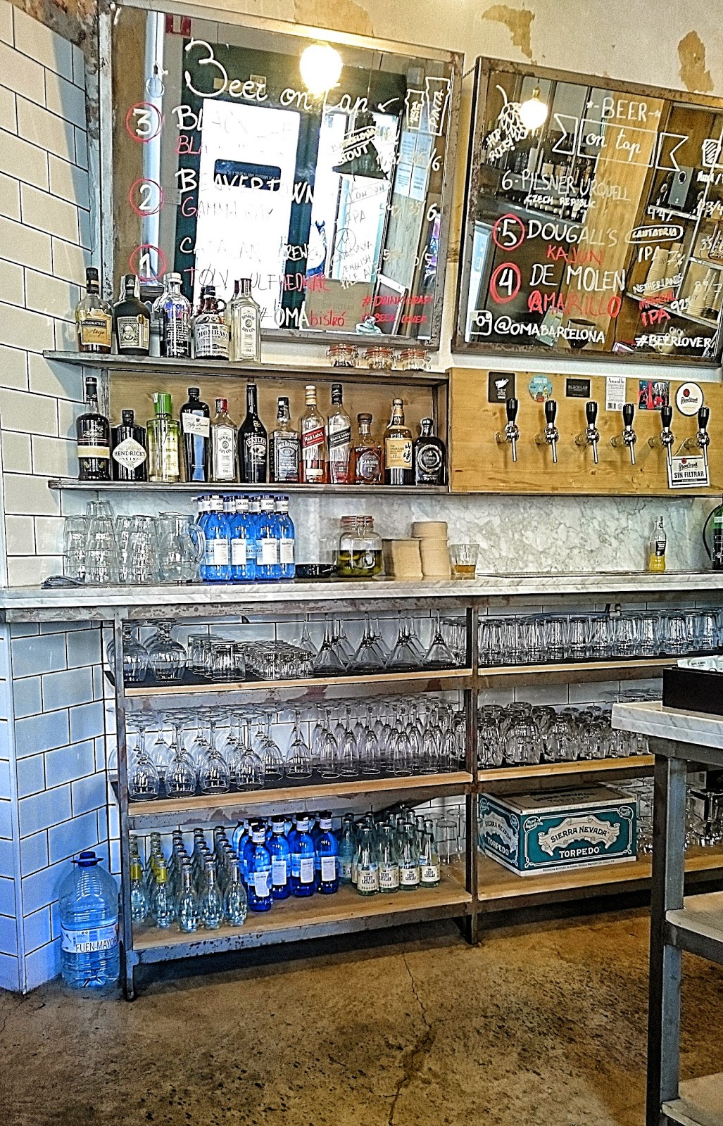 OMA Bistró Barcelona, cervezas artesanas