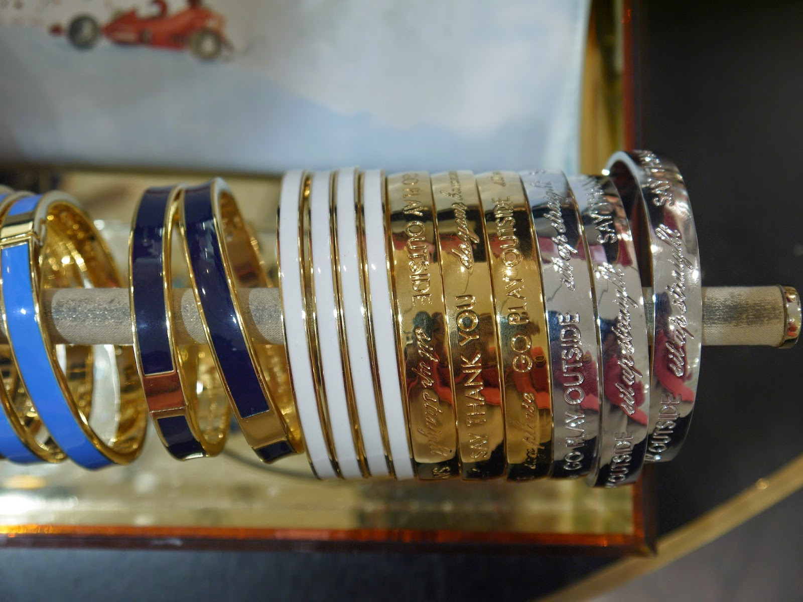 Engraved Bangled on Display At TheKate Spade Event