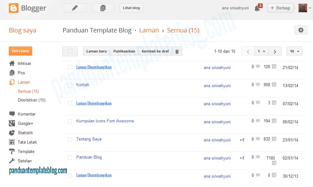 Halaman Blog: Tampilan Baru Laman Blogger