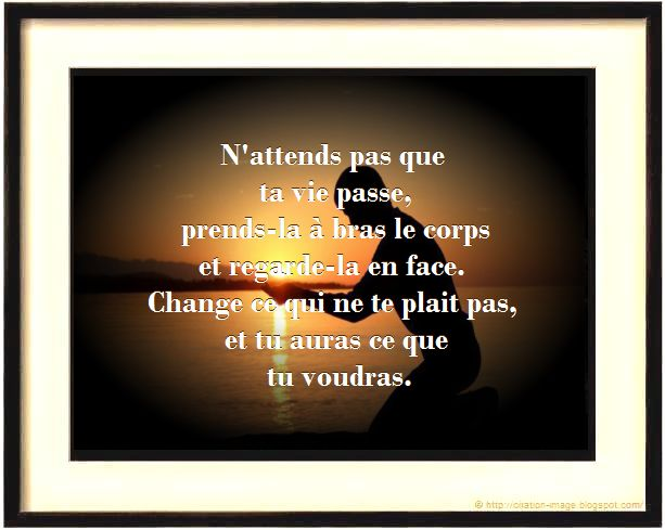 Bien connu Citation pensée positive sur la vie ~ Citation en image : photo  EF02