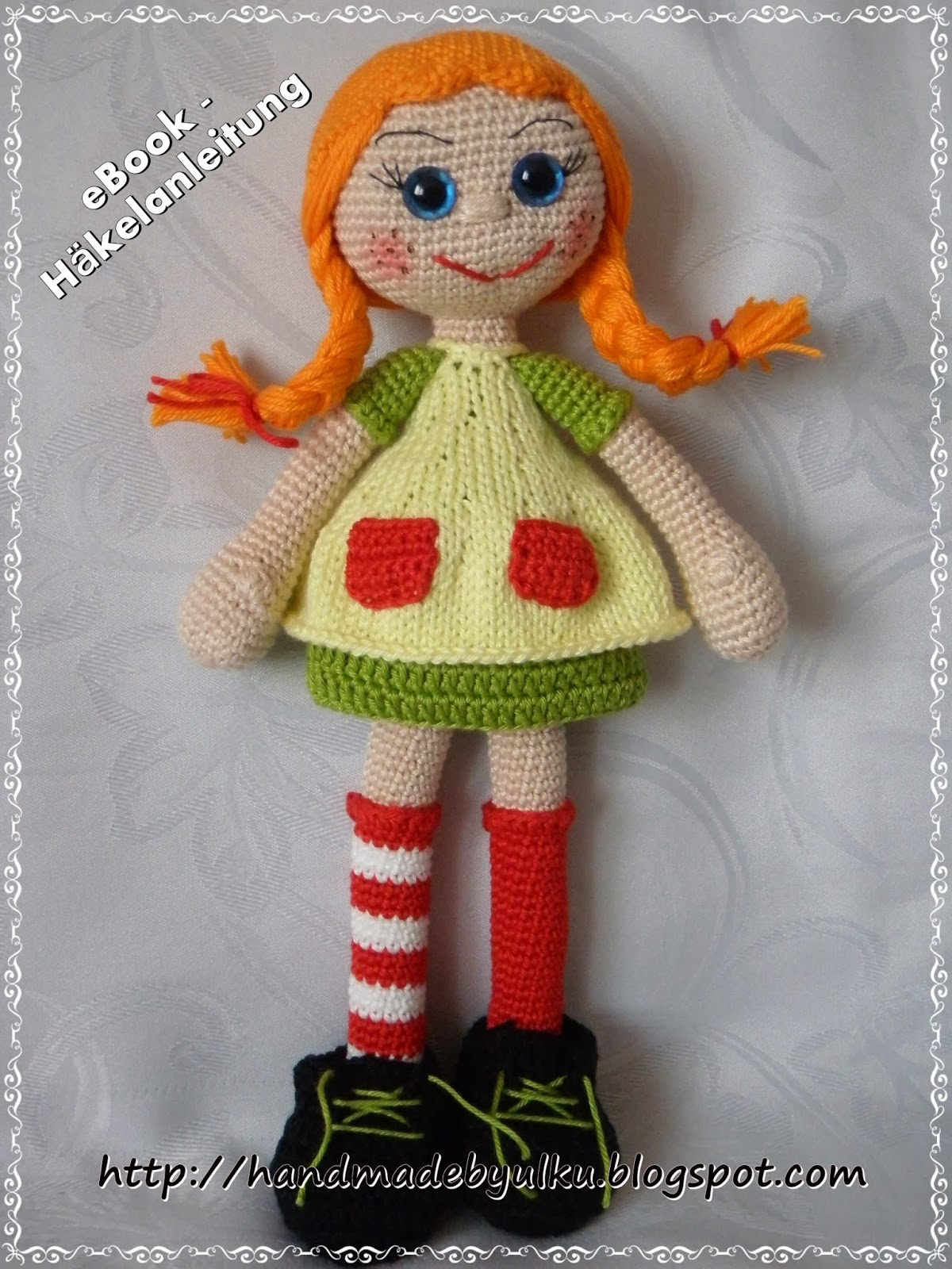 Amigurumi Pippi Yapilisi : Handmade by ulku: Amigurumi Hakelanleitung Pippi / Pattern ...