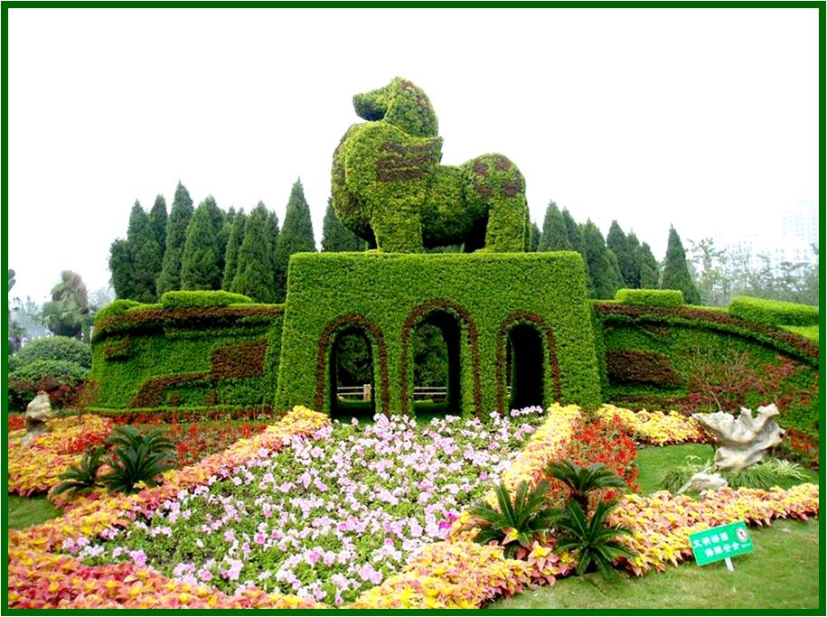 Best wallpapers topiary gardens chinese plant sculpture for Jardin de china
