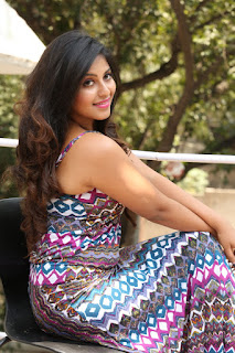 Anjali in very beautiful cute Sleeveless floor length evening Gown Cute HQ Pics