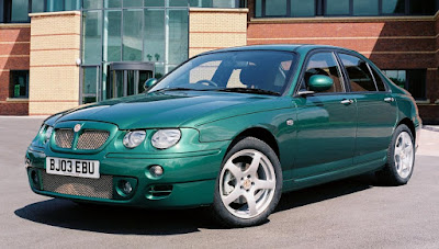 MG ZT in British racing green