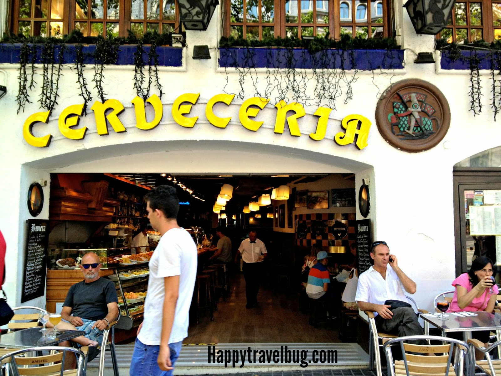 Cerveceria on las Ramblas in Barcelona, Spain