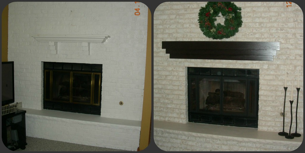 Fireplace Design painting fireplace white : Fireplace Decorating: An Amazing new look on a previously painted ...