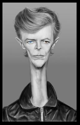 caricatura DAVID BOWIE - Encuesta discografía