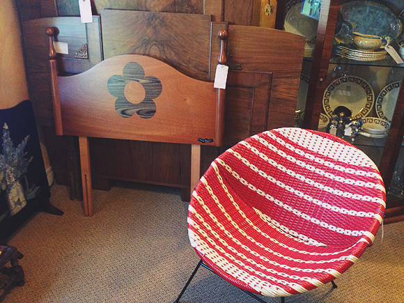 Mary Quant headboard and 1960s chair