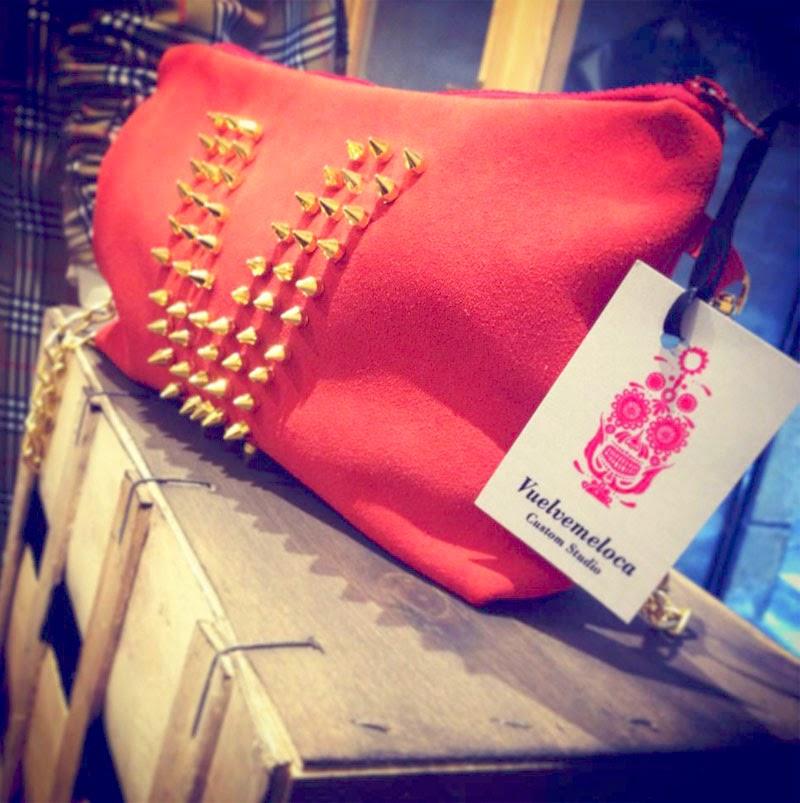 bolso rojo, complementos moda femenina