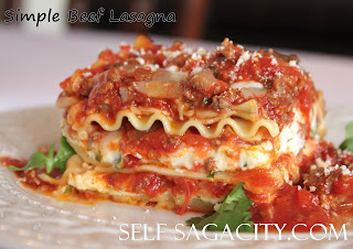 lasagna portion