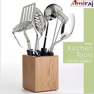 Paytm : Buy Amiraj Kitchen Tools And get at Extra 50% Cashback – Buytoearn