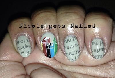 Newspaper Nails Books Nail Art