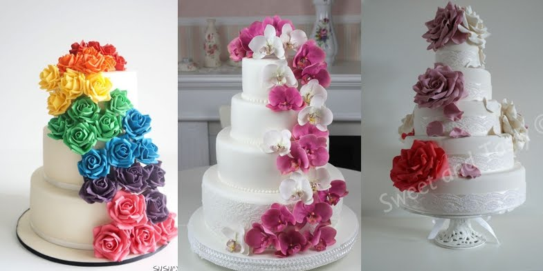 Incredibly beautiful wedding cakes with sweet flowers junglespirit Images