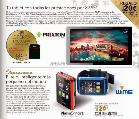 tablet prixton y smartwatch navidad 2014