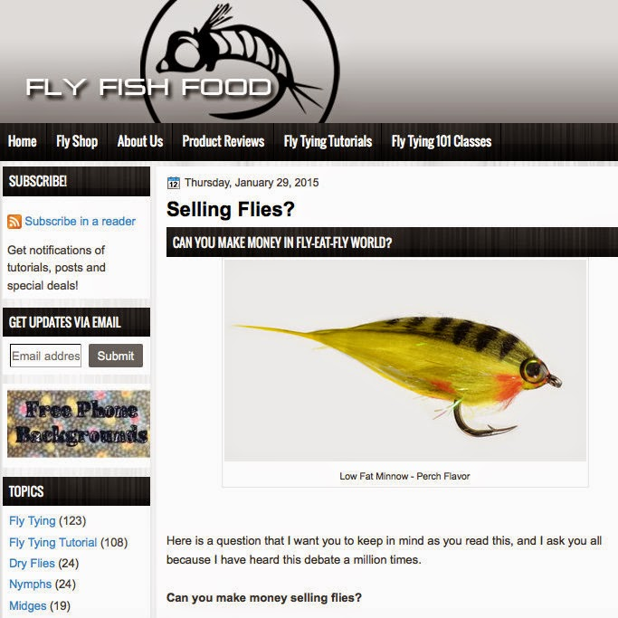 The fiberglass manifesto fly fish food on selling flies for Fly fish food