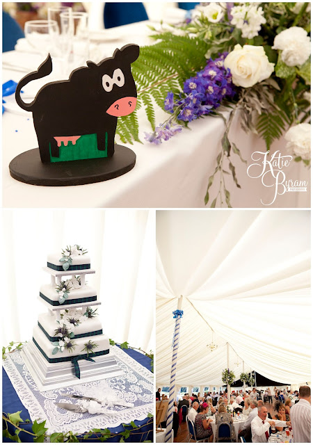 cow centrepiece, farm wedding, whitley chapel, st helens church wedding, whitley chapel wedding, curly farmer, katie byram photographer, one digital image, northumberland wedding photographer, wedding wellies, wedding jewellery