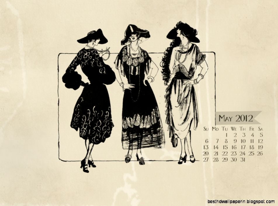 Vintage fashion wallpaper desktop
