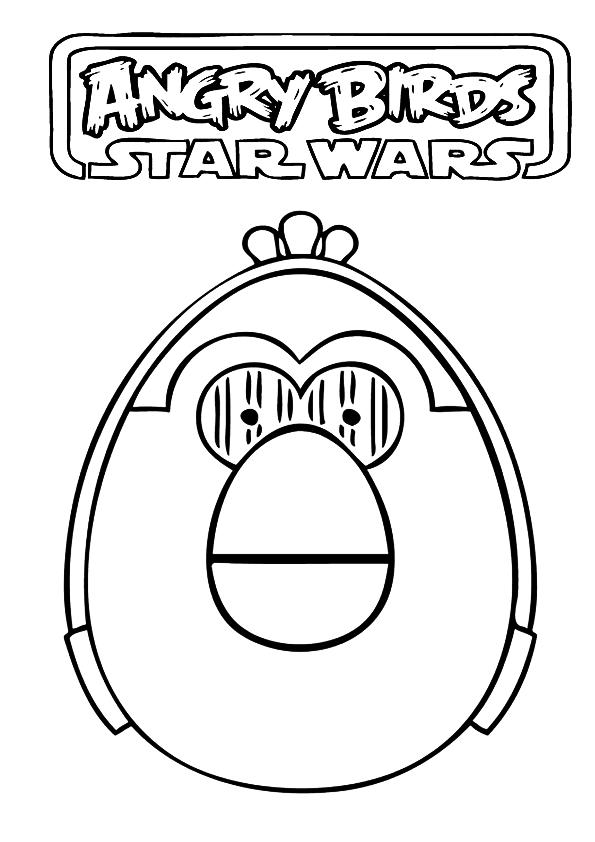 Dibujos De Angry Birds Star Wars Para Colorear  Holidays OO