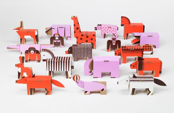 Fold up paper animals