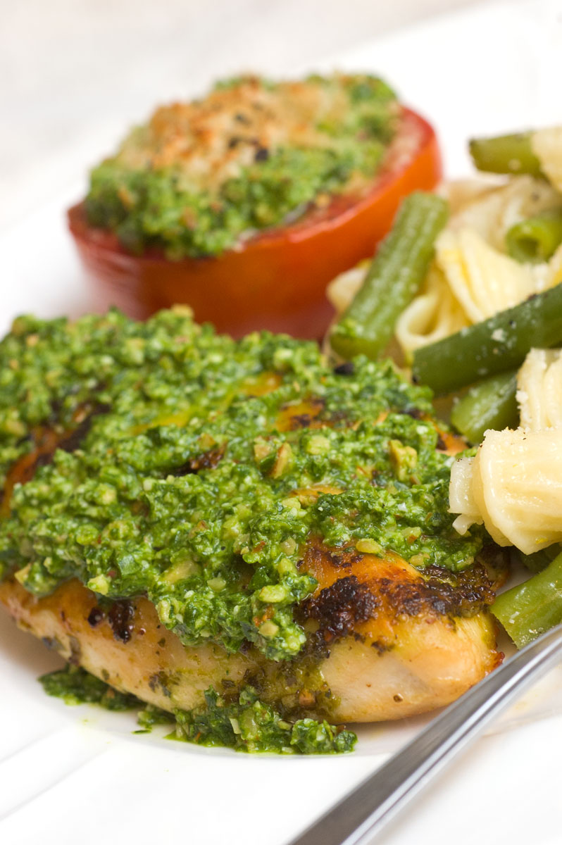 Sugar & Spice by Celeste: Chicken with Spinach Pesto
